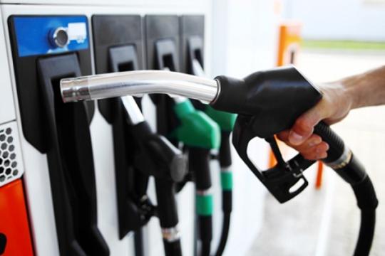 image: hand holding a petrol hose